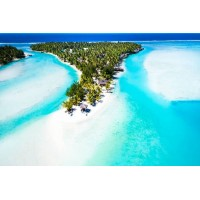 Deluxe Beachfront Bungalow Private Island Cook Islands