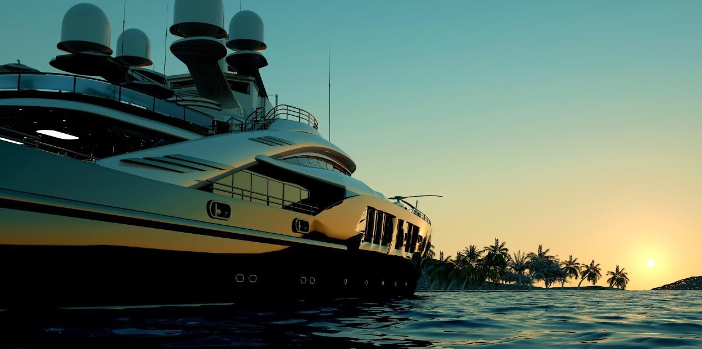 яхта для трансфера на частный остров