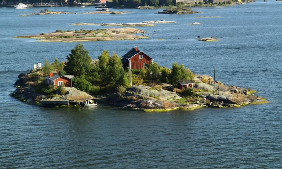 частный остров Вилла Бергхольмен, Финляндия